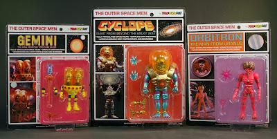 Four Horsemen Outer Space Men Series 4 & 5 - Gemini, Cyclops & Orbitron