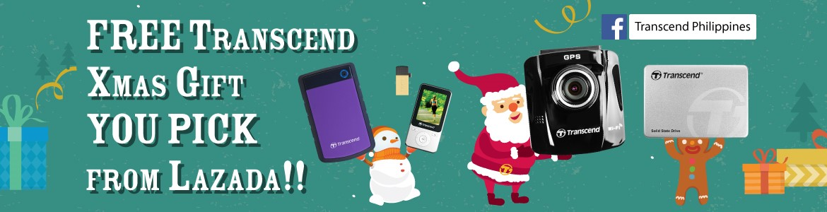 Transcend Xmas Gift You Pick from LAZADA Event