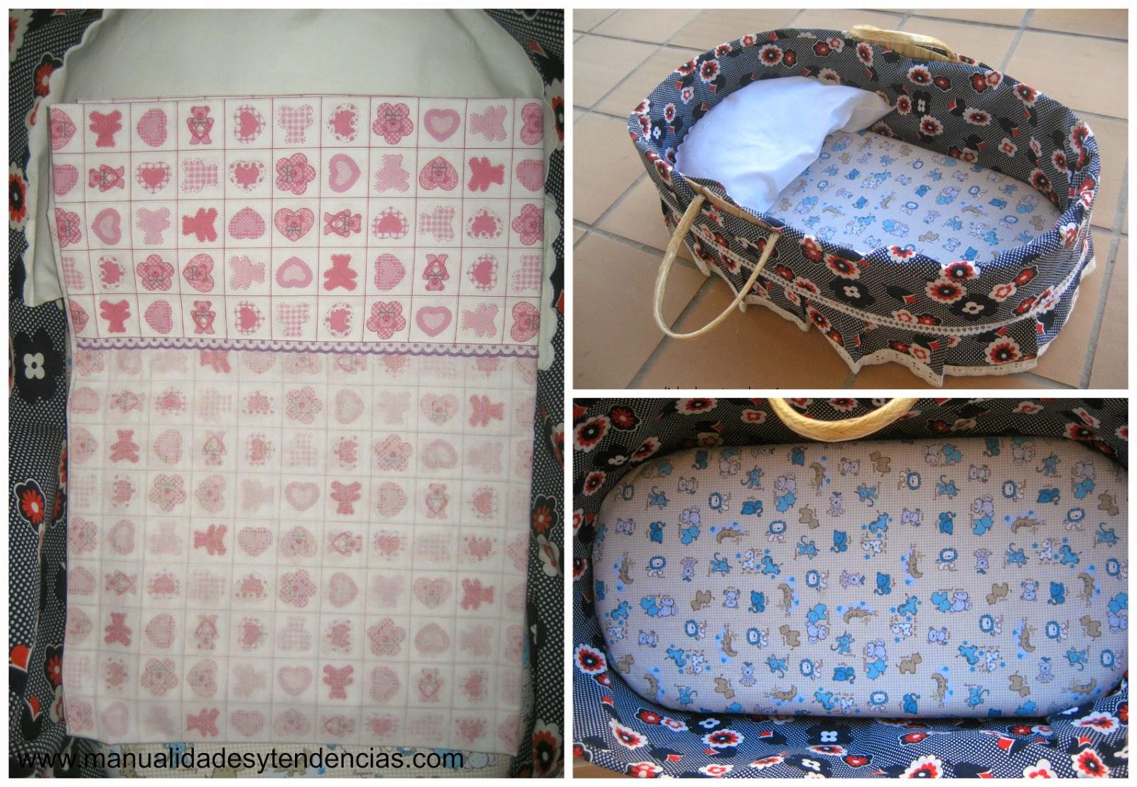 Sábana y funda de colchón capazo bebé