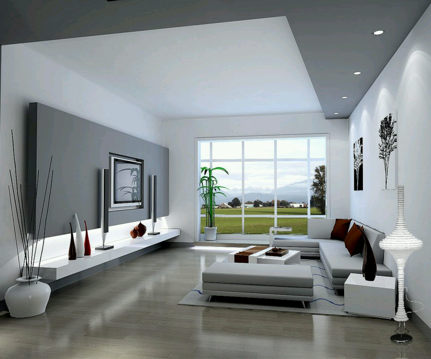New home designs latest modern living rooms interior for Modern home living room