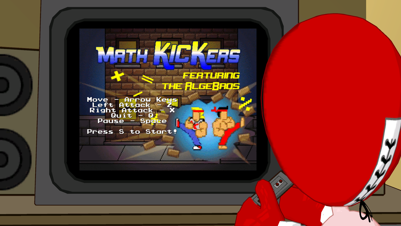 The Fun Machine In Strong Bad's Room Hosts The Educational Video Game Math  Kickers Featuring The Algebros, A Double Dragonstyle Arcade Game Where  The