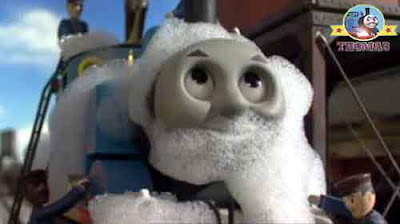 At the Sodor engine wash down center Thomas tank engine was soon covered in soapy bath bubbles