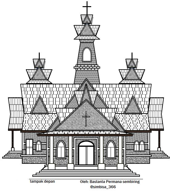contoh rancangan gereja