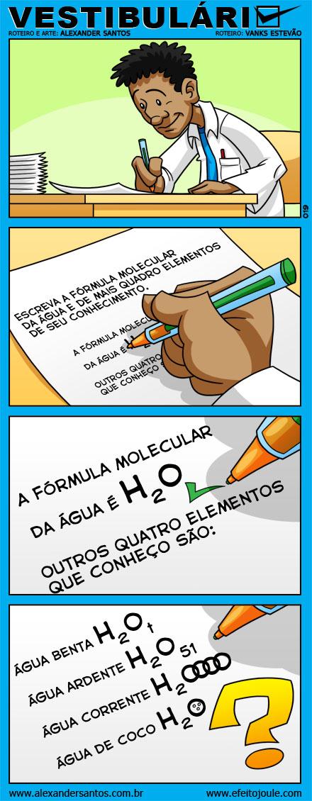 Tirinha fórmulas moleculares