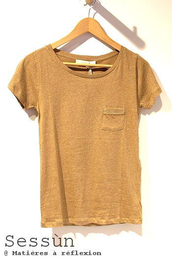 Sessun T-shirt Shaw sable vêtements lurex