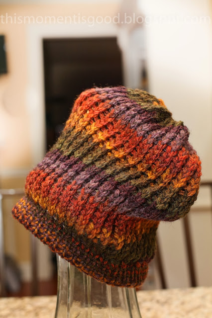 Loom Knitting Beanie Patterns : Loom Knitting by This Moment is Good!: LOOM KNIT HARVEST BEANIE