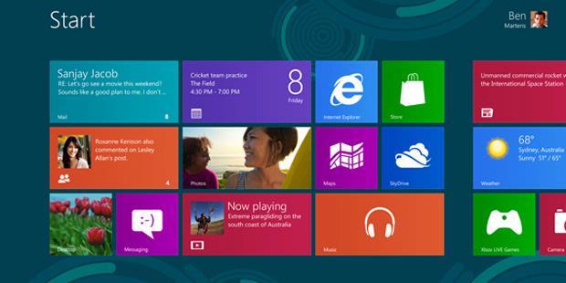 Tampilan Windows 8