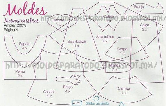 ... CLAUDIA (TODO SACADO DE LA WEB): Fofuchos Novios moldes o paso a paso