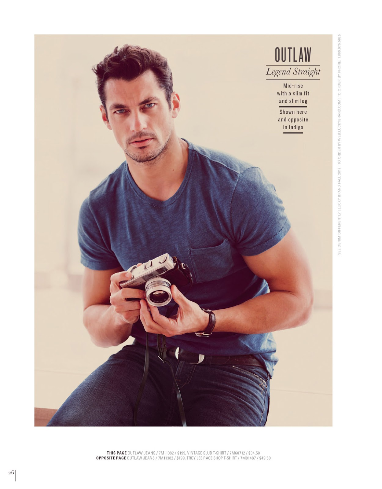David Gandy for Lucky Brand A/W 2012 Denim Campaign ~ David James Gandy