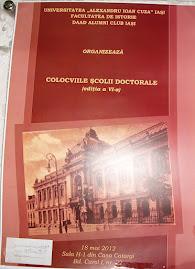 Colocviile Şcolii Doctorale, ediţia a VI-a,18 mai 2012...