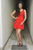 Saiyami Kher Hot in Red at Rey Trailer launch-thumbnail-8