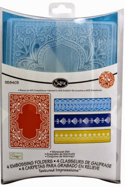 Sizzix Textured Impression Embossing Folders-Moroccan Set-/331344925527