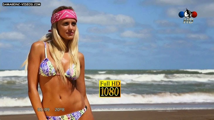 Argentina singer Melina Lezcano hot bikini backstage HD video