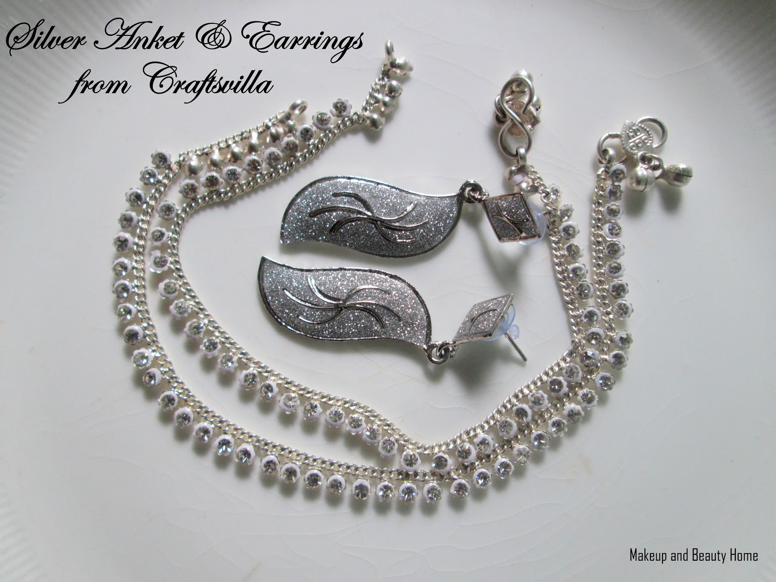 Anti Aging For Beauty: Silver Anket & Earrings from Craftsvilla