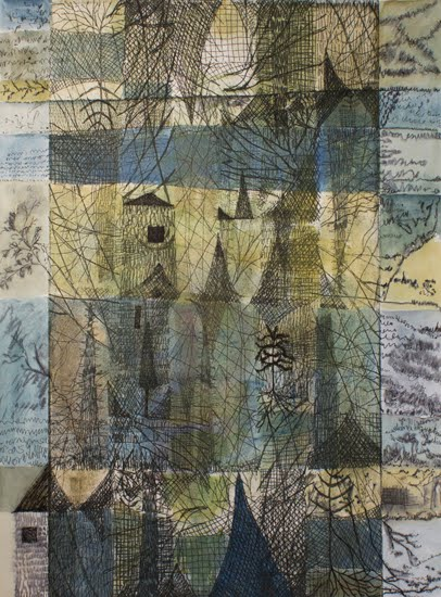Passage bleu fragmenté