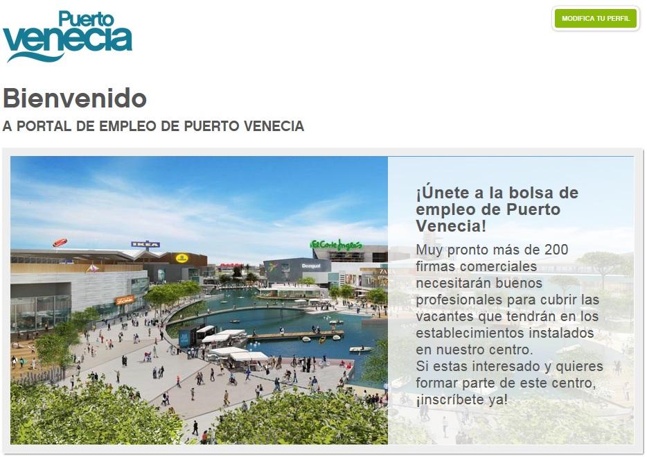 Las noticias de empleo 2 0 bolsa de empleo del c c puerto venecia en zaragoza - Ofertas de trabajo en puerto real ...