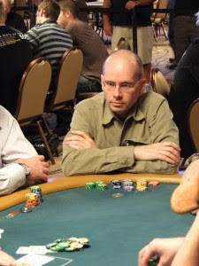 Bob 'Poker Grump' Woolley at the 2011 WSOP Main Event