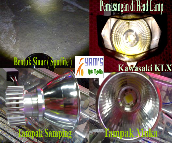 Head Lamp Luxeon 15w / 27w