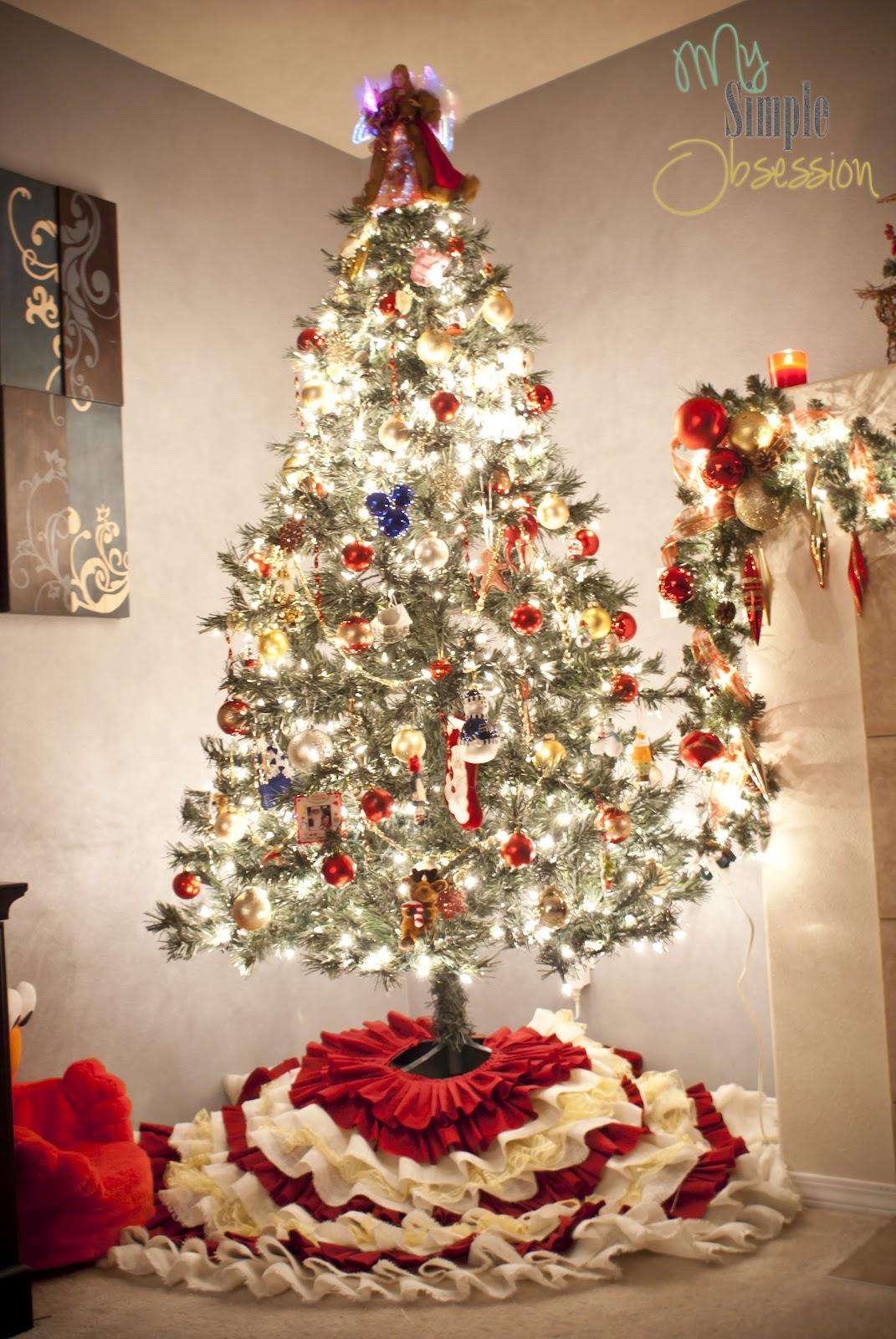 My Simple Obsession: DIY Ruffled Christmas Tree Skirt