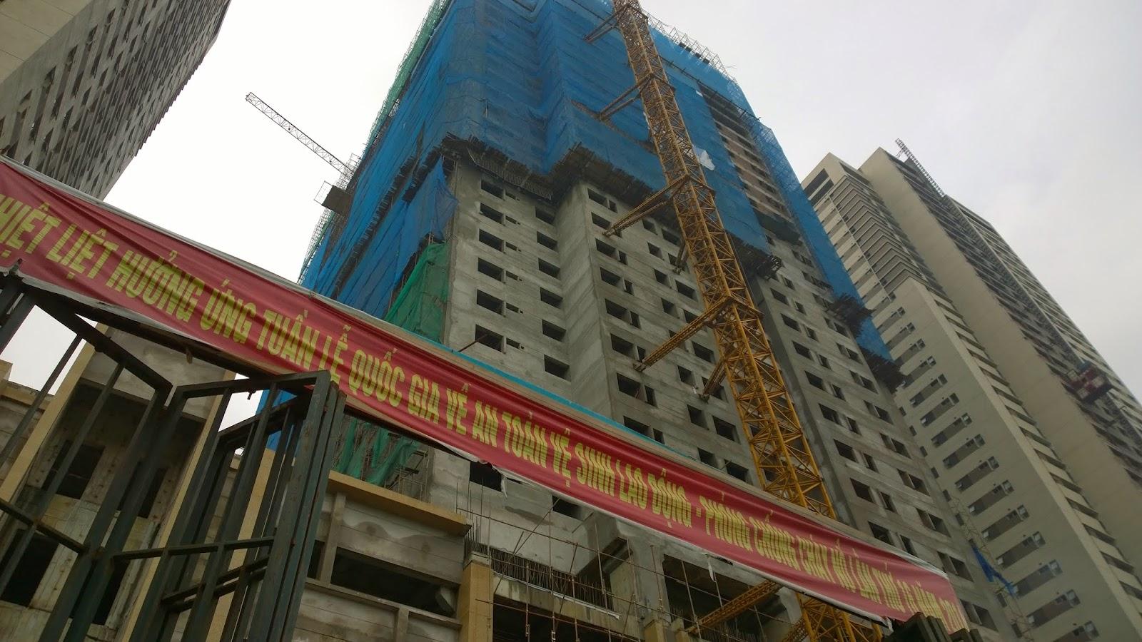 tiến độ chung cư hp landmark tower