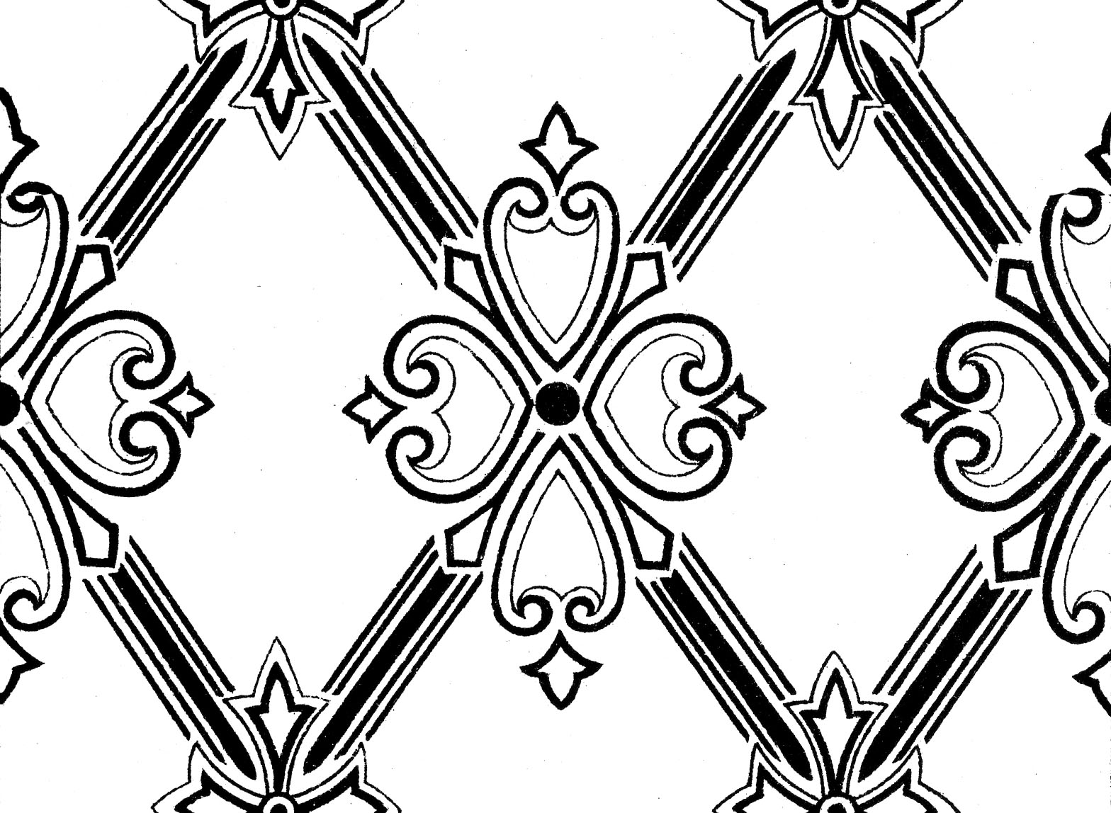 The Background Fairy: Pattern - Overlay - Lattice with Crosses