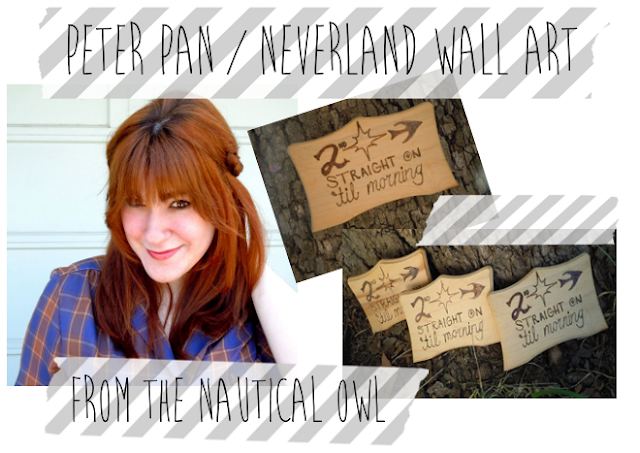 This Neverland Plaque could beyour's! Quick-Click! Enter this easy giveaway :) Lots more prizes included too! See more at: nauticalowl.blogspot.com