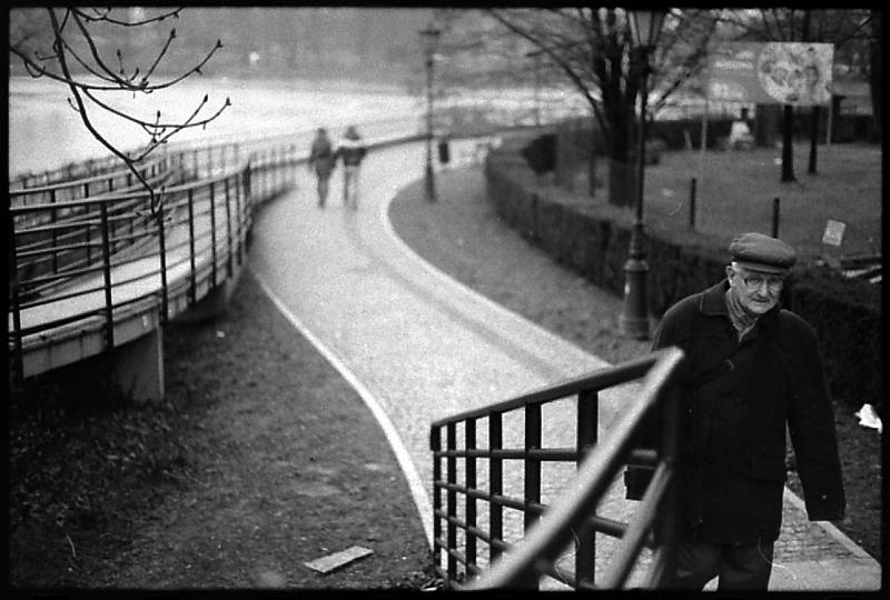 zima we wrocławiu, most tumski, cz-b, wrocław, dokument, streetfoto
