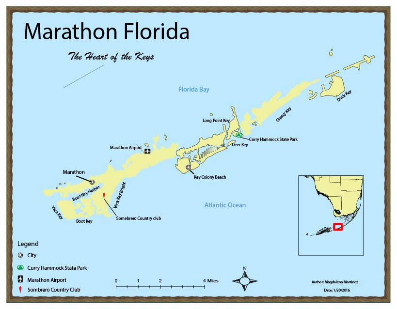 Marathon Florida Map | My GIS blog
