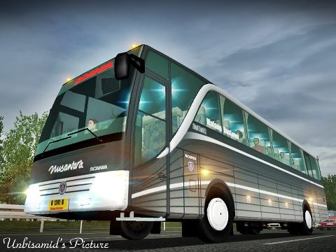 ukts setra scania k 124 ib uk truck simulator bus mod indonesia