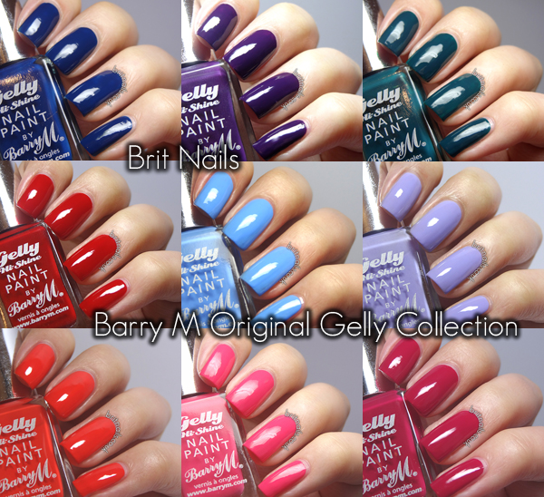 Finger Nail Paint: Barry M Gelly Nail Paint Collection Swatches