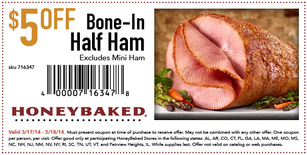 Honeybaked ham coupon code