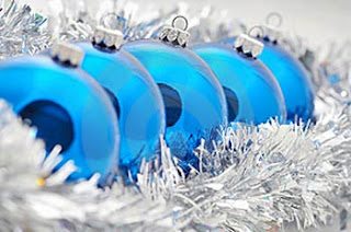 15 December - Challenge 86 - Sharon L SILVER BLUE & WHITE