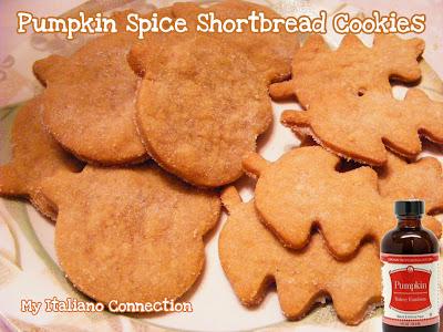 Pumpkin Spice Emulsion in Shortbread Cookies