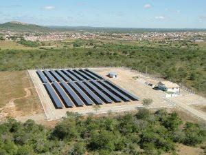 vista aérea da usina solar MPX Tauá