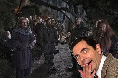 Escena de la película el hobbit con Mr. Bean
