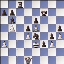 Final de la partida de ajedrez Martínez de Carvajal - Baquero, 1891, posición después de la jugada 33...h5