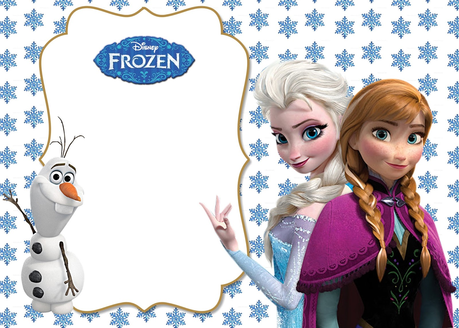 "What 5 Teach Me: ""Frozen"" Themed Birthday Invitations"