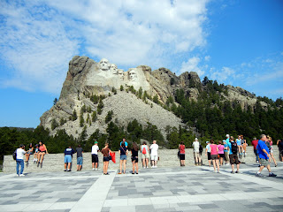 View of Mount Rushmore from the Grand View area in South Dakota