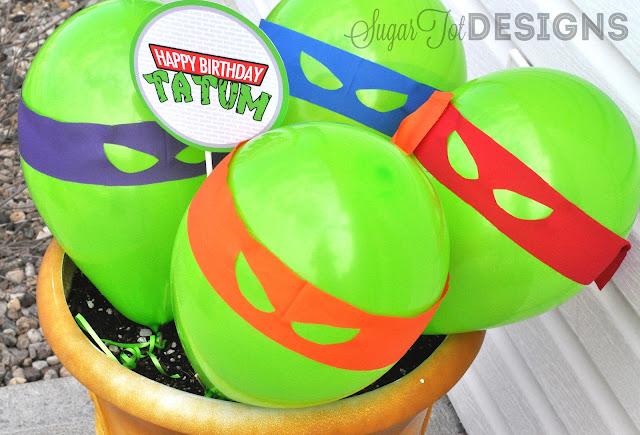 Teenage Mutant Ninja Turtles Party Balloons