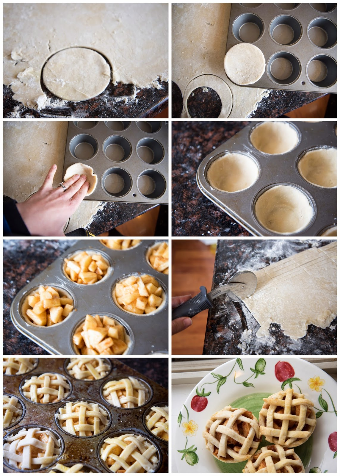 Make your own mini apple pie in muffin tins