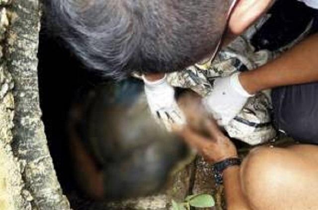 Lelaki Lemas, terperangkap dalam saluran air ketika Menangkap Ikan
