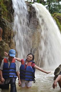 Air tejun sungai Oyo wirawisata