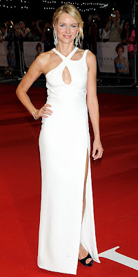 Naomi Watts, Versace, red carpet, Diana, London