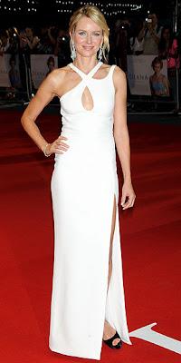 Naomi Watts, Versace, red carpet, Diana, London
