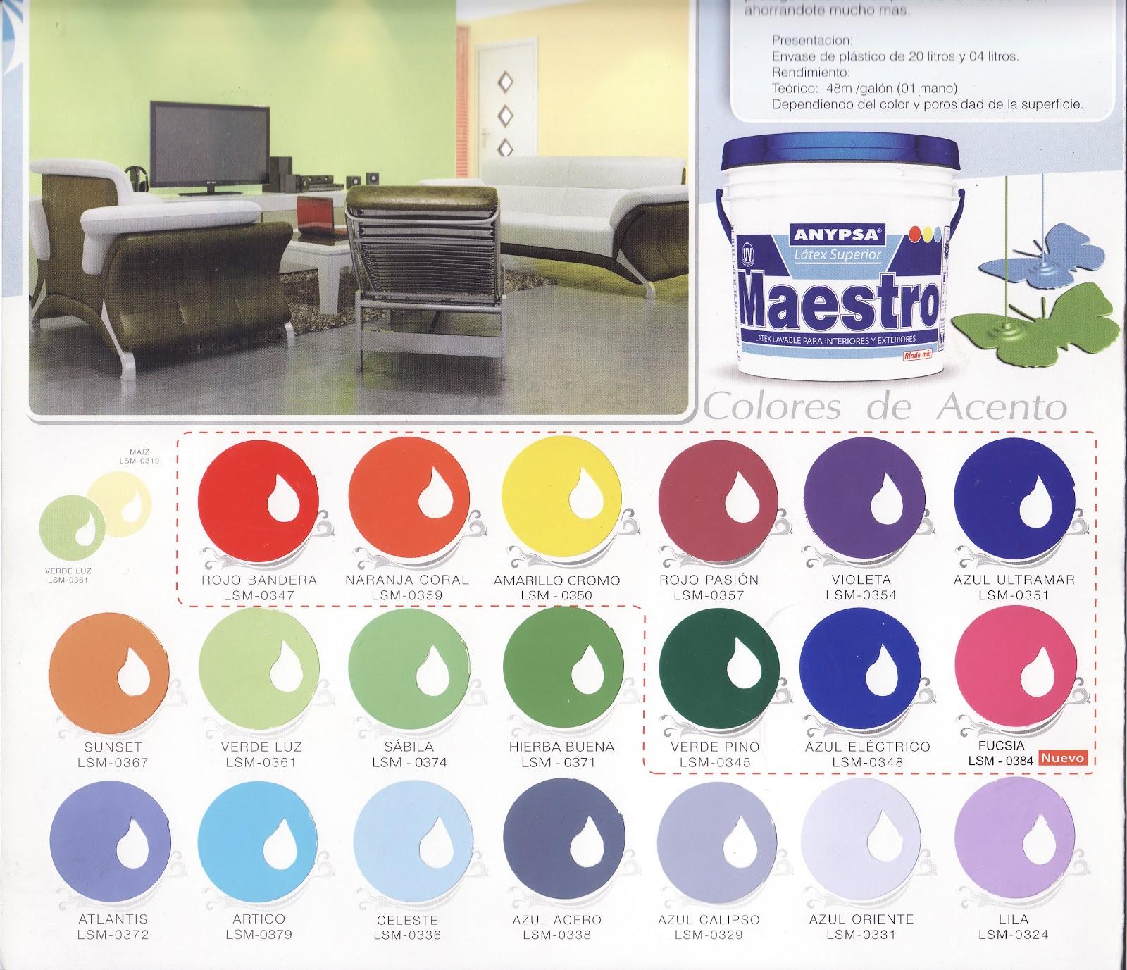 Todo pinturas industriales y decorativas carta de colores for Catalogo pinturas interior