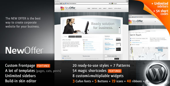Image for NewOffer – 20-in-1 Business WP Theme by ThemeForest
