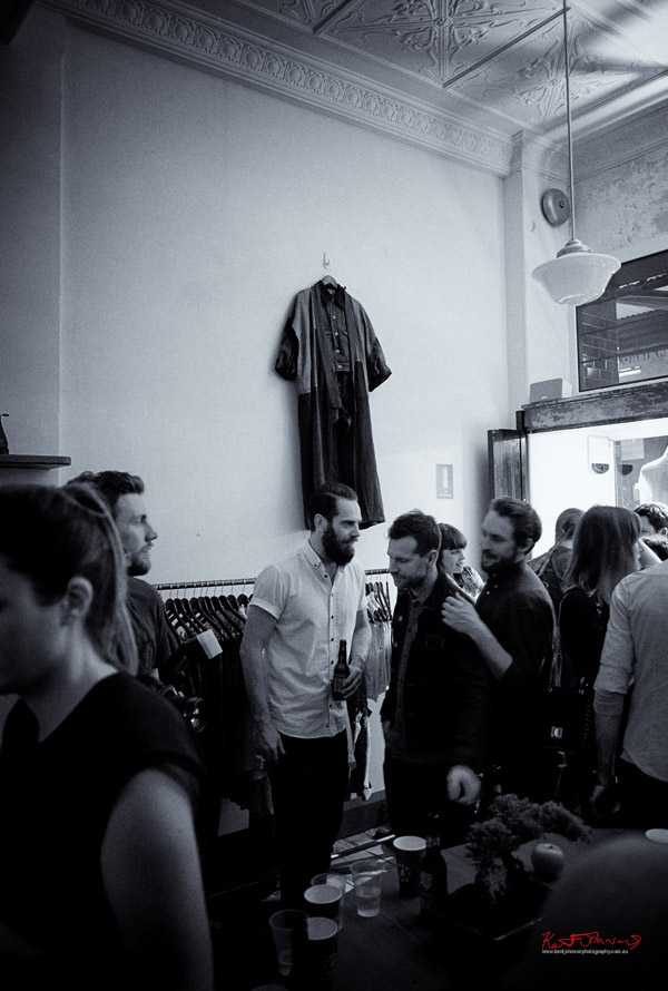 Crowd, men, beards, more wall art of denim clothing;  Neuw Denim - Service Party - Fujifilm X-Pro1