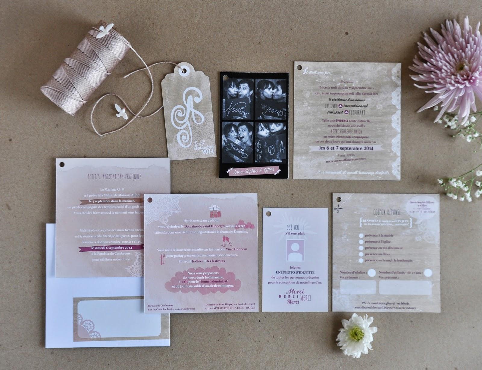 arr te de r ver faire part mariage anne sophie gilles douceur romantique. Black Bedroom Furniture Sets. Home Design Ideas