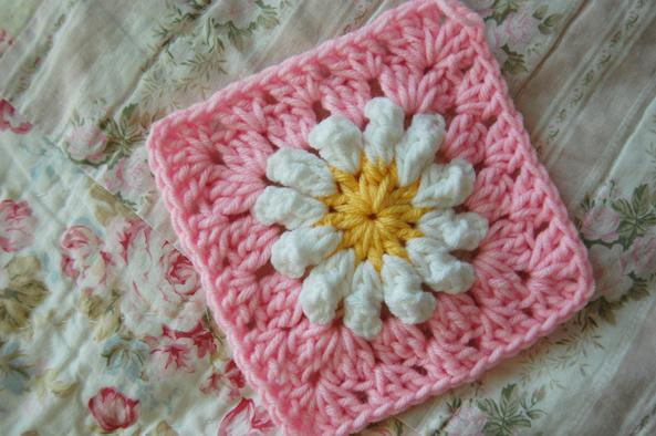 Crochet Daisy Granny Square