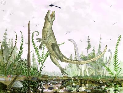 reptiles del cretaceo Pakasuchus